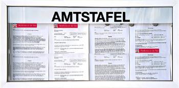 Öffentliche Kundmachungen - Amtstafel