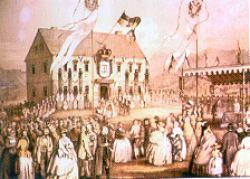 Das Rathaus in einer alten Ansicht