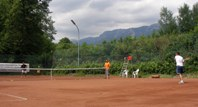 Tennis beim Parkcafé Reichenau.