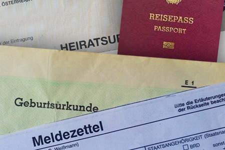 Staatsbürgerschaftsnachweis Unterlagen