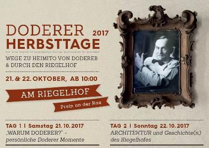 """Foto zur Veranstaltung Symposium """"Doderer Herbsttage 2017"""""""