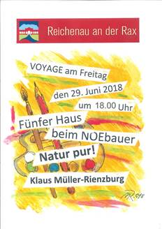 """Foto zur Veranstaltung Vernissage """"Voyage - NATUR PUR"""" in der Galerie 5er Haus"""
