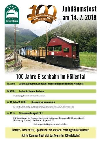 """Foto zur Veranstaltung Jubiläumsfest """"100 Jahre Eisenbahn im Höllental"""""""